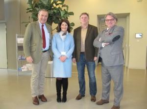 v.l.n.r.: Geschäftsführer Doz. Dr. Sungler, Pflegedirektorin Hader, Mag. Wimmer, Prof. Dr. Prümper